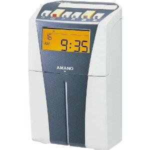 アマノ 電子タイムレコーダー (シルバー) [73152] CRX-200 (S) [F011408]
