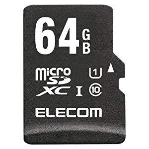 エレコム microSDXCカード 64GB [36642] MF-AMR064GU11/H [F040220]