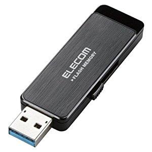 エレコム USB3.0フラッシュ 16GB AESセキュリティ機能付 ブラック MF-ENU3A16GBK [F040323]