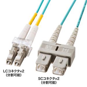 サンワサプライ OM3光ファイバケーブル HKB-OM3LCSC-02L HKB-OM3LCSC-02L [F040213]