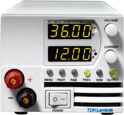 【◆◇マラソン!ポイント2倍!◇◆】TDKラムダ 超小型高電力密度CVCC可変電源Z+ 前面出力ジャック有 400W Z36-12-L-J [A072121]