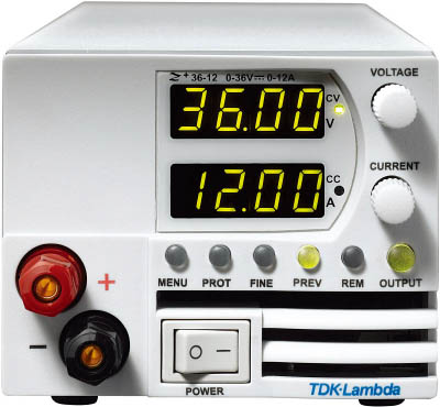 TDKラムダ 超小型高電力密度CVCC可変電源Z+ 前面出力ジャック有 600W Z36-18-L-J [A072121]