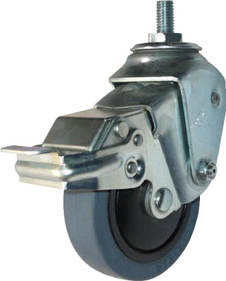 ハンマーキャスター ステンレスクッションEねじ込みM12SPゴム125mm線径2.8 935SEA-FR125S328 [A050207]