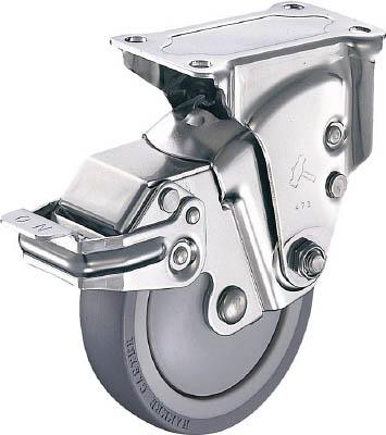 ハンマーキャスター オールステンレスクッションE固定SPウレタン125mm線径2.0 935SER-BLB125S20 [A050207]