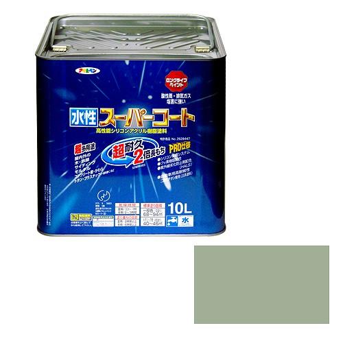 アサヒペン 水性スーパーコート ソフトグレー [A190201]