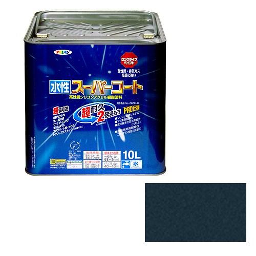 【30日限定☆カード利用でP14倍】アサヒペン 水性スーパーコート 銀黒 [A190201]
