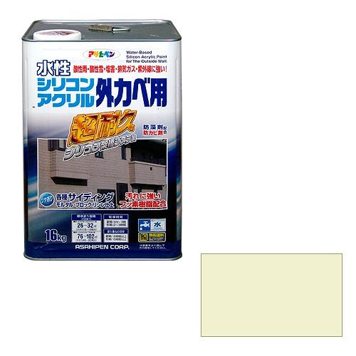 アサヒペン 水性シリコンアクリル外かべ用 ミルキーホワイト [A190706]