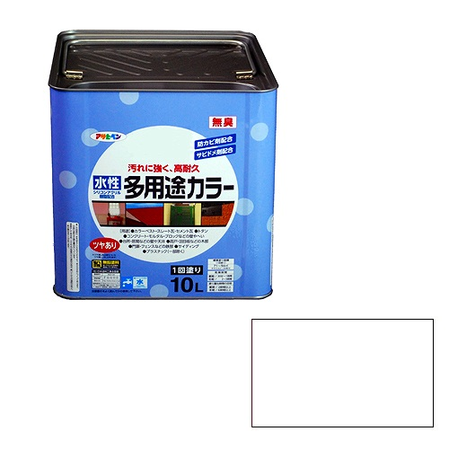 【★店内ポイント2倍!★】アサヒペン 水性多用途カラー 白 [A190201]