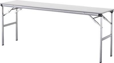 【◆◇エントリーで最大ポイント5倍!◇◆】アイリスチトセ 折畳みテーブルLOT 棚無し1545サイズ ライトグレー LOT-1545-LGY [F010401]