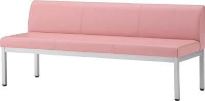 【◆◇エントリーで最大ポイント5倍!◇◆】アイリスチトセ ロビーチェア フルータ4型背付W1500 ピンク CLB-1553-P [F010806]