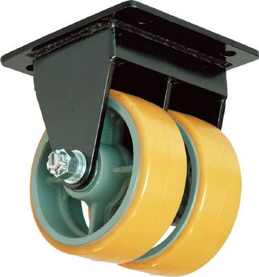 ヨドノ 【代引不可】【直送】 鋳物超重荷重用双輪キャスター固定車ウレタン車輪付UHBW-k150X75 UHBW-K150X75 [A050207]