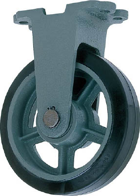 ヨドノ 【代引不可】【直送】 鋳物重荷重用ゴム車輪固定車付き HB-k500X75 HB-K500X75 [A050207]