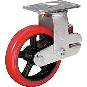 イノアック バネ付き牽引車輪(ウレタン車輪タイプ 自在金具付 Φ150) KTU-150WJ-YS [A230101]