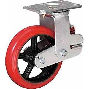 イノアック バネ付き牽引車輪(ウレタン車輪タイプ 自在金具付 Φ150) KTU-150WJ-GS [A230101]