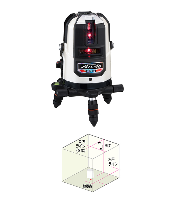 ムラテックKDS ATL-46RSA レーザー墨出器 受光器・三脚付