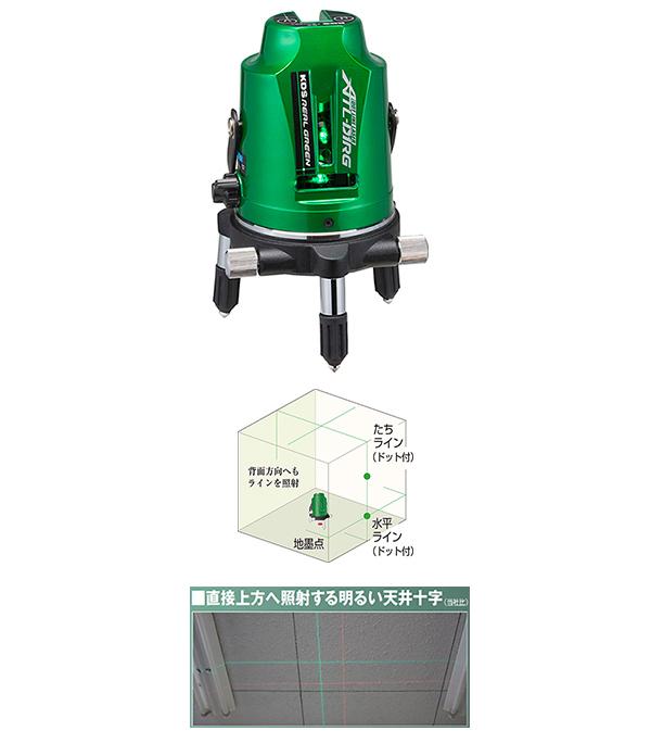 ムラテックKDS ATL-D1RGRSA グリーンレーザー墨出器 受光器・三脚付