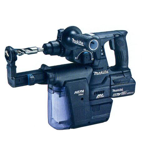 マキタ 24mm充電式ハンマドリル HR244DGXVB (黒)集じんシステム付(電池2個・充電器・ケース付)