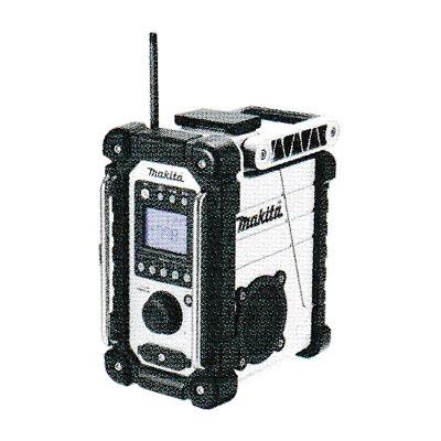マキタ 充電式ラジオ MR107W (白)シンプルタイプ(バッテリ・充電器別売)