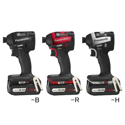 パナソニック 18V 充電インパクトドライバー  4.2ah EZ75A7LS2G-B 電池2個・充電器・ケース付 黒
