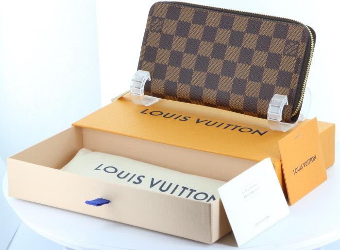 2019年製ジッピーウォレット入荷しました 【新品】【2019年製造】カードポケットの増えた話題の新型ジッピー ルイ・ヴィトン ダミエ ジッピーウォレット N41661 箱 袋付ビトン ジッピー 財布 LV ラウンドファスナー