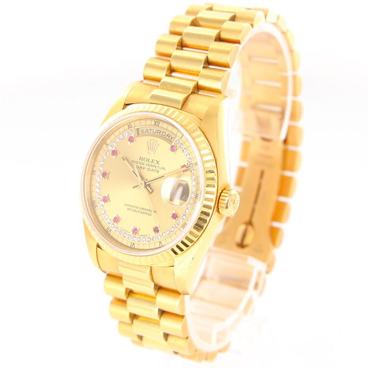 【中古】時計 腕時計 メンズ腕時計 ロレックス デイデイト Ref.18238LR E450789 自動巻 金無垢 ゴールド文字盤 メンズウォッチ ブランドウォッチ