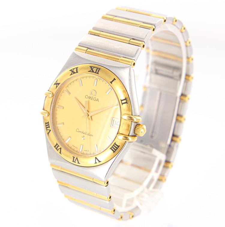 【中古】時計 腕時計 メンズ腕時計 オメガ コンステレーション 1212.10 クォーツ SS/YG ステンレススチール コンビ ゴールド文字盤 ブランドウォッチ メンズウォッチ