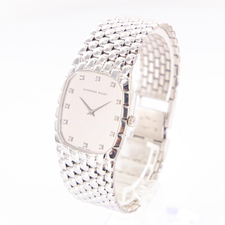 【中古】時計 腕時計 メンズ腕時計 オーデマピゲ AUDEMARS PIGUET 14126/791 手巻 K18 18金ホワイトゴールド 84.4g(余りコマ含む)シルバー文字盤 メンズウォッチ ブランドウォッチ