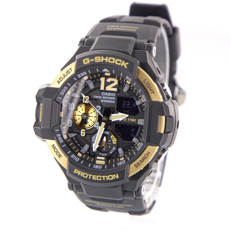 【中古】時計 腕時計 メンズ腕時計 カシオ Gショック G-SHOCK GA1000-9GDR グラビティマスター クォーツ 樹脂ベルト ブラック ゴールド 黒文字盤 ブランドウォッチ メンズウォッチ