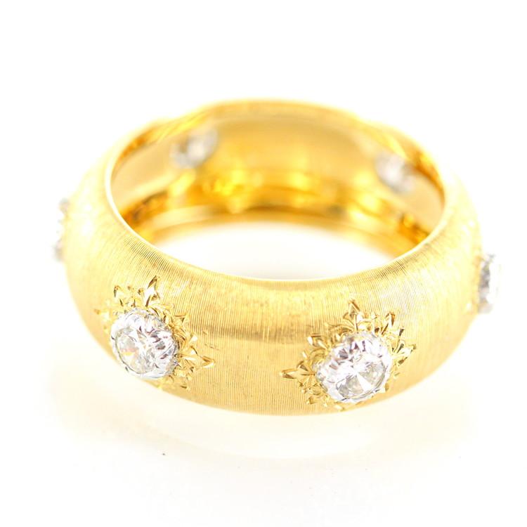 【中古】ジュエリー 指輪 ジャンマリア ブチェラッティ クラシカバンドリング ダイヤ 6P ダイアモンドリング K18 18金イエローゴールド レディースジュエリー