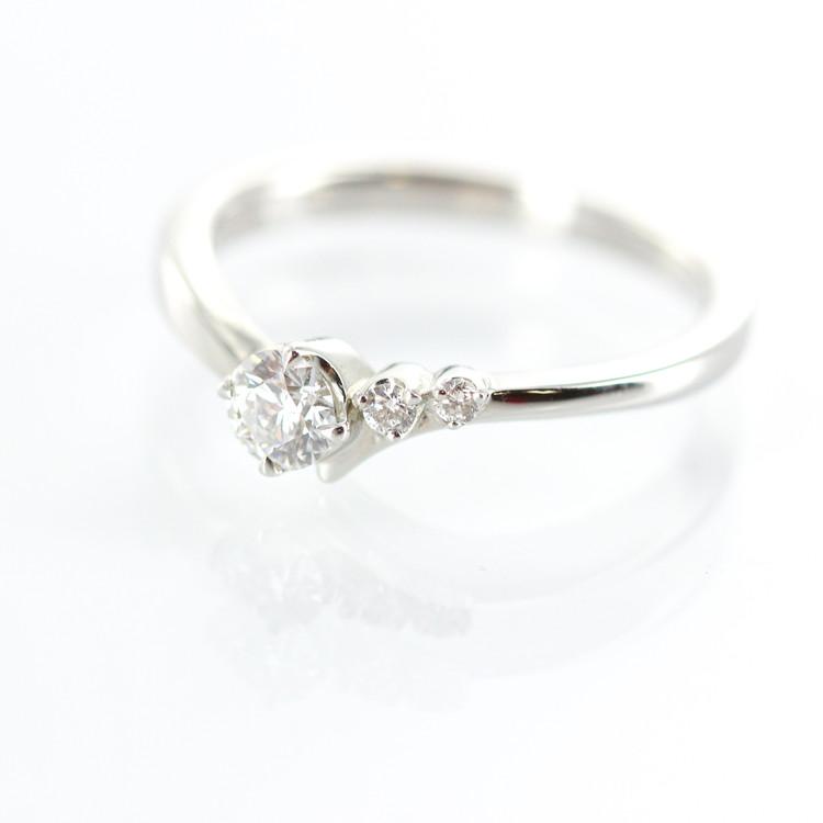 【中古】ジュエリー アクセサリー レディースジュエリー Pt950 4℃ ダイヤモンド 0.164ct D VVS2 3EX N 指輪 ヨンドシー ダイア プラチナ 3.0g レディースアクセサリー