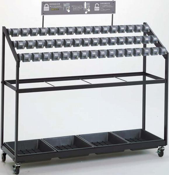 【送料無料】 ダイヤルロック式 キーレス傘立 トレス(組立式)48本立