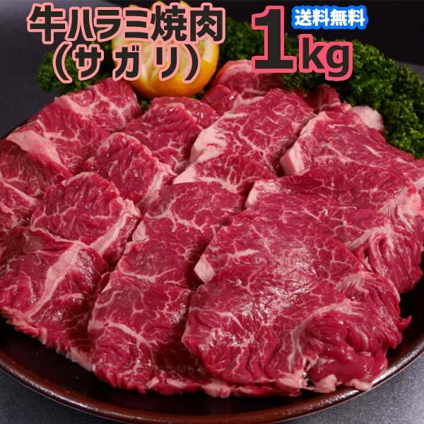 送料無料!限界価格に挑戦!味付け無し、お好きなタレや味付けにて召し上がれ。赤身が好きな方へオススメです。クリスマスパーティーに、お誕生日やお祝い、お歳暮に1品に 送料無料!味付け無し 牛 ハラミ 焼肉(サガリ)1kg(500g×2P)4人~6人前  バーベキュー用 美味しい ホットプレート 焼肉 お徳用 お弁当 おかず お土産 メガ盛り お誕生日 お祝いの1品に。お歳暮 お中元 の御礼に 文化祭等に。