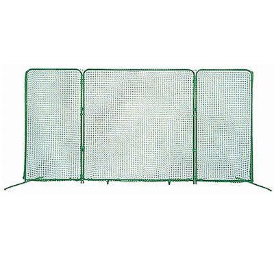 三面式防球ネット フレーム付