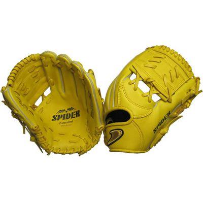 硬式二塁手・遊撃手用グラブ SPIDER Tウェブ イエロー 右投げ用