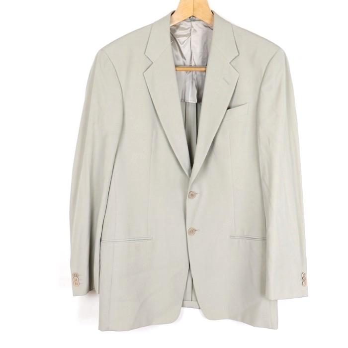 ジョルジオアルマーニ GIORGIO ARMANI ブランド古着 良品 無地 人気商品 テーラードジャケット グレー 出色 中古 イタリア製 2ボタン アウター シングル メンズ