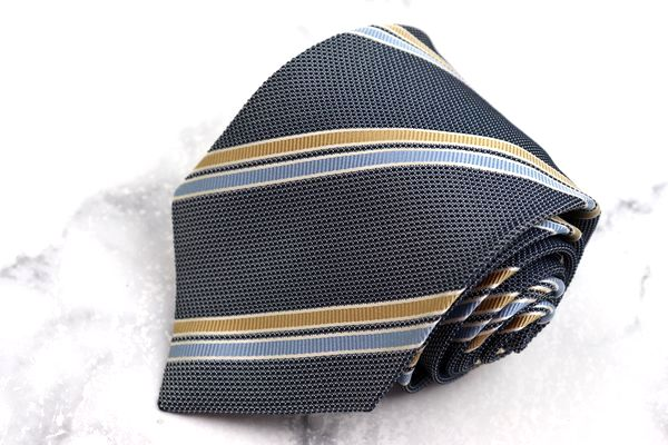 ヘンリーコットンズ Henry Cotton's ブランド ネクタイ ゆうパケット 送料無料 ネイビー 良品 シルク バーゲンセール 中古 テレビで話題 ストライプ柄 日本製