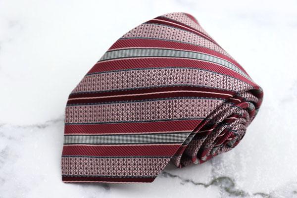 ダーバン DURBAN 高級 ブランド ネクタイ ゆうパケット 送料無料 ストライプ柄 日本製 美品 中古 不明 ピンク 超特価SALE開催