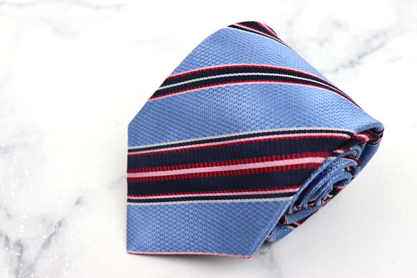 インヘイルエクスヘイル INHALE EXHALE ブランド ネクタイ ゆうパケット 送料無料 永遠の定番 シルク 日本製 ブルー ハンドメイド 高い素材 ストライプ柄 美品 中古 イタリア製生地