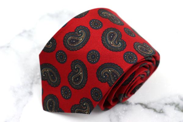 キッズ ジュニア 子供用 ネクタイ ブランド 商品追加値下げ在庫復活 ゆうパケット 送料無料 ブルックスブラザーズ Brooks ペイズリー柄 米国製 美品 Brothers シルク 全長約128cm 中古 レッド 使い勝手の良い