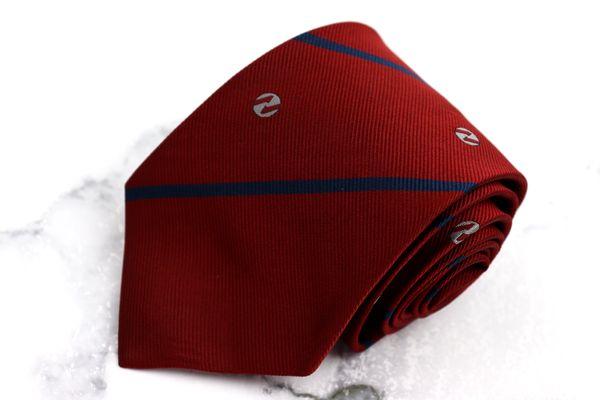 ダンロップ DUNLOP ブランド ネクタイ ゆうパケット 送料無料 定価 ストライプ柄 中古 人気ブレゼント レッド シルク 美品