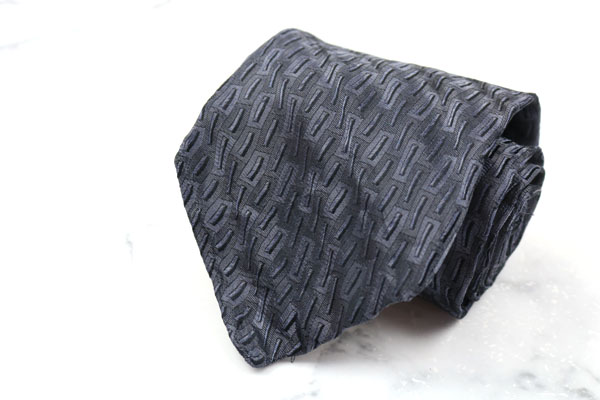 プリマクラッセ PRIMA CLASSE いよいよ人気ブランド ブランド ネクタイ ゆうパケット 送料無料 本日限定 伊製 総柄 シルク 中古 美品 グレー