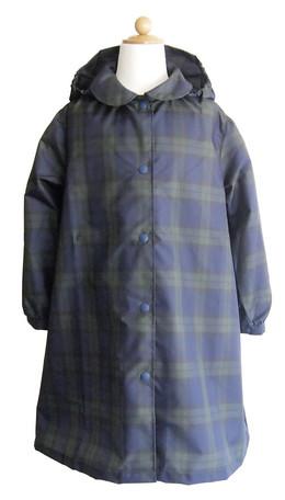 レインコート キッズ 雨具 ブラックウォッチ 女児用 ランドセル対応 子供服 洋品
