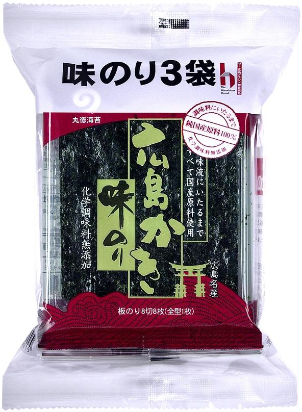 4年保証 原料の海苔はもちろん 味付けの原料に至るまで全て純国産にこだわった商品です 広島かきの旨味と豊かなコクを活かし 丸徳広島かき味のり3袋x10個 化学調味料無添加で仕上げております 限定モデル