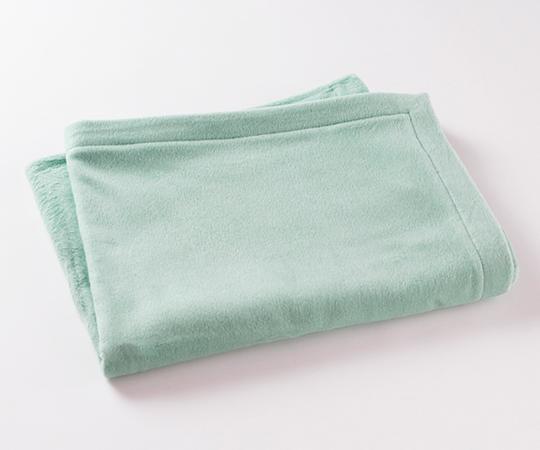 【ホットマン】カラー ハーフ綿毛布18(ペールグリーン)