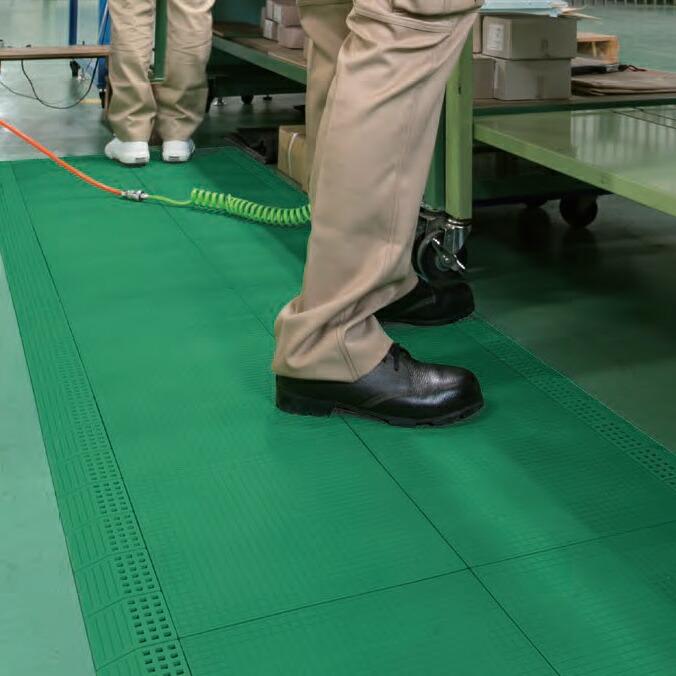 静電気による製造ロスを削減し作業効率を向上!つなげて敷ける静電気対策マット。 ジョイント制電マット2【30cm×30cm】(テラモト MR-009-178-1)(静電気除去 工場 機械)