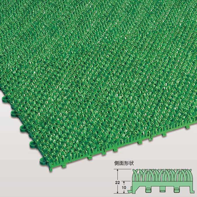つなげる人工芝 ユニットターフC型(家庭向) 【300×300mm】(テラモト MR-002-778-1) (施工が簡単なジョイント式 激安 売れ筋)