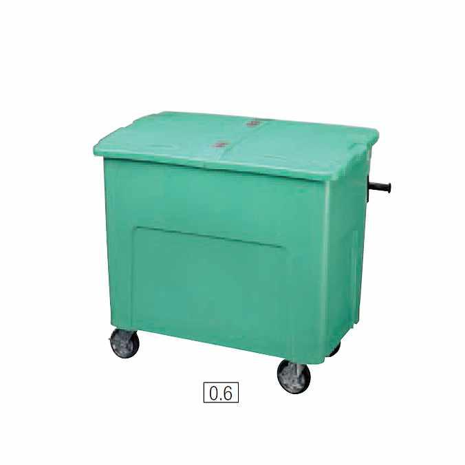 リサイクルカート アウトバー 600L(山崎産業 YD-141L-PC) (ゴミ収集庫 ゴミ箱 ダストボックス ゴミ集積場 マンション 激安)【代引決済不可】