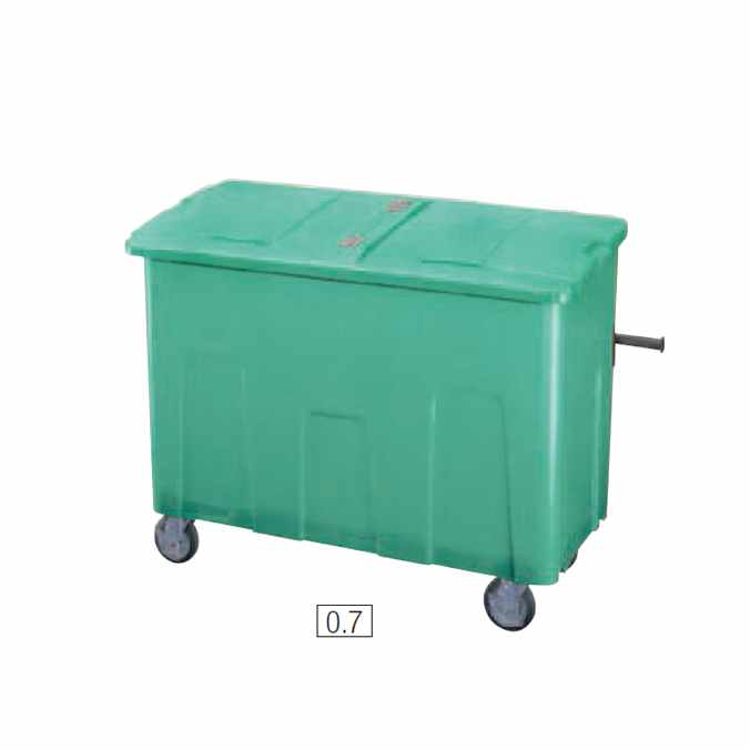 リサイクルカート アウトバー 700L(山崎産業 YD-142L-PC) (ゴミ収集庫 ゴミ箱 ダストボックス ゴミ集積場 マンション 激安)【代引決済不可】