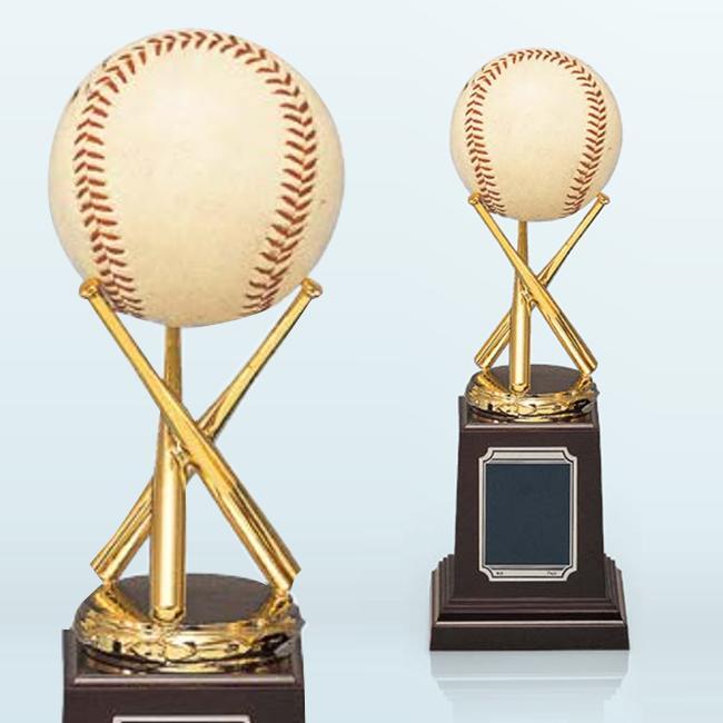 ボールが飾れる♪野球バットブロンズトロフィー(高さ190mm)BT3261【文字彫刻無料】[F/K2]