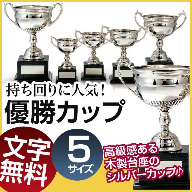 優勝カップ:真鍮製シルバーカップ(高さ275x口径150mm)C1140-C【文字彫刻無料】【送料無料】【木製ケース入り】[FP/H-4S]